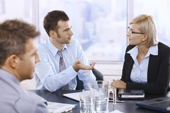 Businessman talking at meeting Stock Images