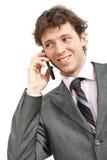 Businessman talking on mobile Stock Photos