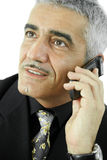 Businessman talking on mobile Stock Images
