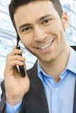 Businessman talking on mobile Royalty Free Stock Image
