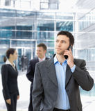 Businessman talking on mobile Royalty Free Stock Photo