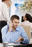 Businessman talking on mobile Royalty Free Stock Photography
