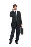 Businessman talking on mobile Stock Image
