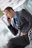 Businessman talking on a mobile phone Royalty Free Stock Photo