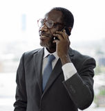 Businessman Talking Mobile Phone Business Deal Cocnept royalty free stock images