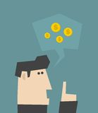 Businessman talking about money. Royalty Free Stock Photos