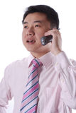 Businessman talking on phone Royalty Free Stock Photo