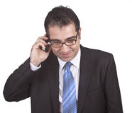 Businessman talking with phone royalty free stock photography
