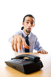 Businessman talking on  phone Royalty Free Stock Photography