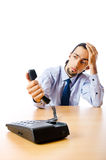 Businessman talking on  phone Stock Photo