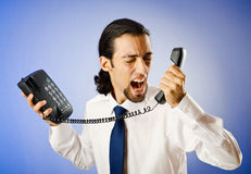 Businessman talking on  phone Royalty Free Stock Photo