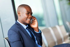Businessman talking phone Stock Photo