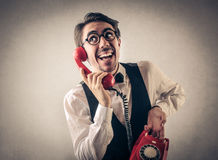 Businessman talking on the phone Stock Photo