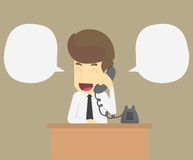 A businessman talking on phone Royalty Free Stock Photography