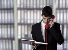 Businessman talking on the phone Royalty Free Stock Images