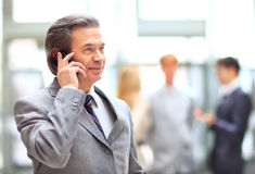 Businessman talking on the phone Stock Photography