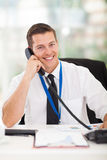 Businessman talking phone Stock Image
