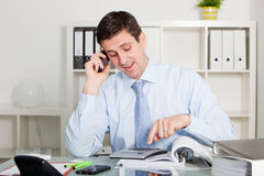 Businessman talking on the phone Royalty Free Stock Photography