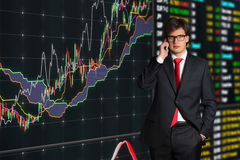 Businessman talking on phone Stock Image