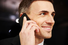 Businessman talking on the phone Royalty Free Stock Photos