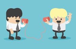 Businessman talking on a  phone. Illustration Cartoons concepts Stock Photo
