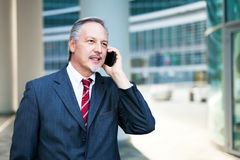 Businessman talking on the phone Stock Photos