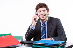 Businessman talking on the phone Royalty Free Stock Photo