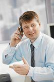 Businessman talking on smartphone Royalty Free Stock Photo