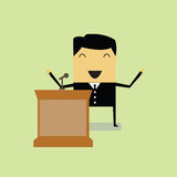Businessman. Talking on stage at the conference Royalty Free Stock Images