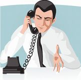 Businessman talking by telephone Stock Image