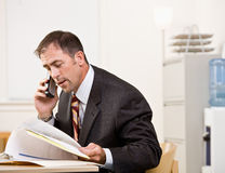 Businessman talking on telephone Royalty Free Stock Photography