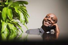 Businessman talking on telephone Royalty Free Stock Photo