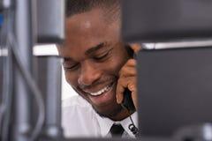 Businessman Talking On Telephone Royalty Free Stock Photography