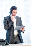 Businessman talking on the telephone Stock Photos