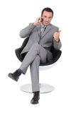 Businessman talking on the telephone Royalty Free Stock Photo
