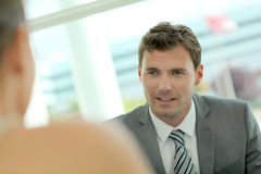 Businessman talking to his partner Royalty Free Stock Image