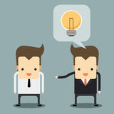 Businessman talking. Two businessman talking and share idea vector Royalty Free Stock Photos