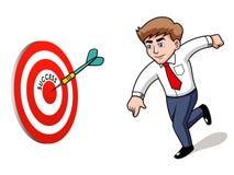 Businessman.Target. 成功概念 图库摄影