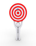 Businessman and target with arrow Royalty Free Stock Photography