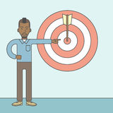 Businessman with target board Stock Images