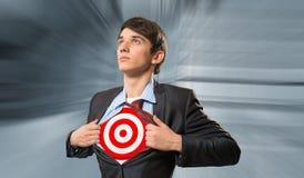 Businessman target Stock Images