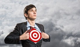 Businessman target Royalty Free Stock Photography