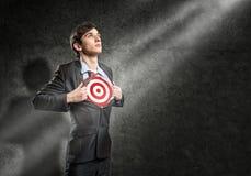 Businessman target Stock Photography