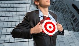 Businessman target Royalty Free Stock Photos