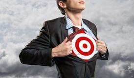 Businessman target Stock Photo