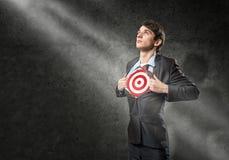Businessman target Stock Photos