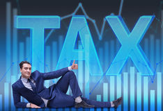 The businessman in tax burden business concept Royalty Free Stock Photography