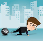 Businessman and tax, business concept, vector. Businessman and tax, business concept Stock Image