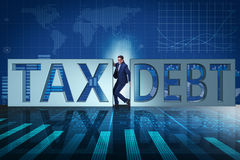 The businessman in tax and debt concept Royalty Free Stock Images