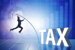 The businessman in tax evasion avoidance concept Royalty Free Stock Photo